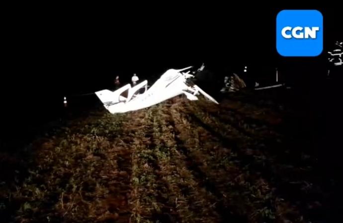 Duas pessoas morrem em queda de aeronave em Cascavel