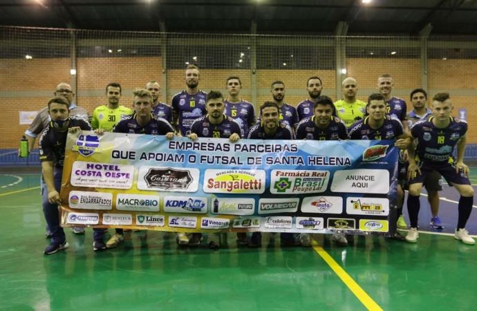Em duelo quente, Santa Helena Futsal segura Guaíra e soma um ponto na Série Bronze