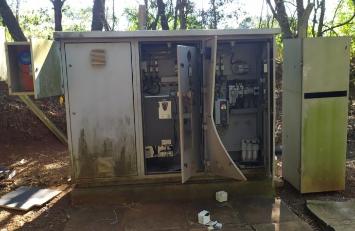 Estação da Sanepar em Santa Helena é violada e fios são furtados