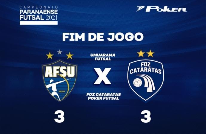 Foz Cataratas Futsal empata com o Umuarama no primeiro jogo do mata mata