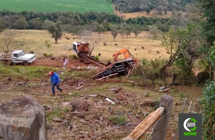 Grave acidente com caminhão deixa feridos em Ouro Verde do Oeste; dois seriam moradores de Santa Helena