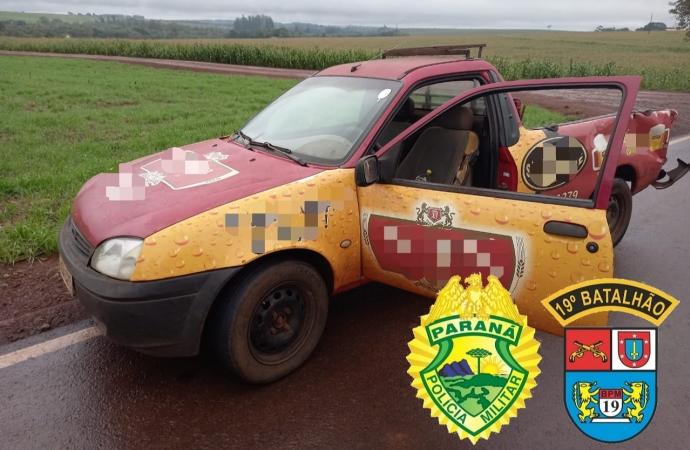 Homem é detido em Entre Rios do Oeste com carro furtado em Santa Helena