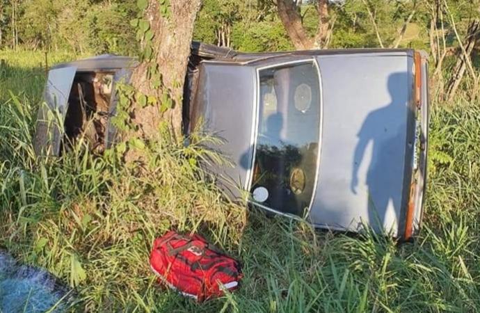Homem morre em acidente na PR 488 em Diamante do Oeste