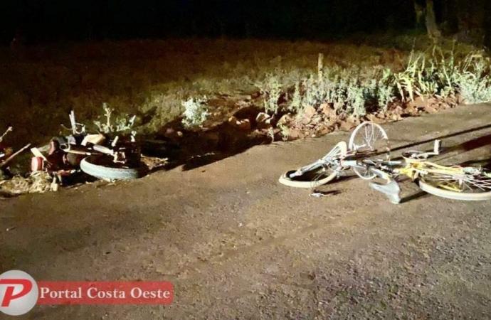Idoso morre em acidente envolvendo bicicleta e moto em São Miguel do Iguaçu