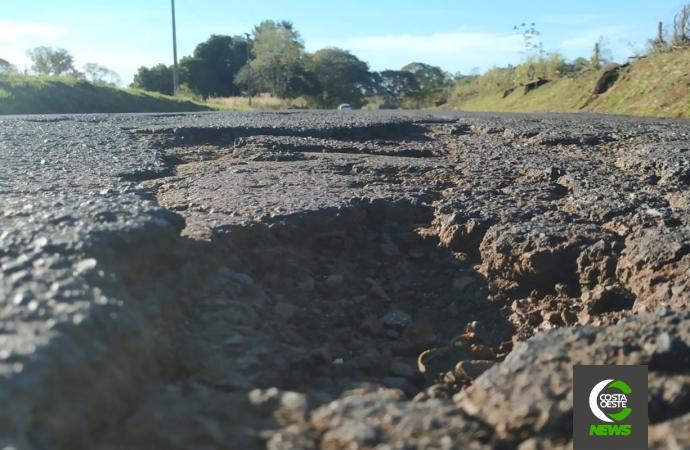 Internauta reclama de péssimas condições de rodovia que liga Missal a São Miguel do Iguaçu