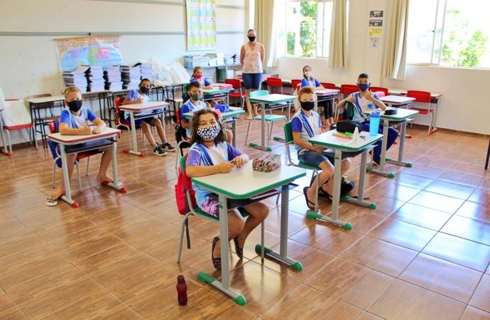 Itaipulândia: Mais de 90% dos alunos retornaram às atividades escolares