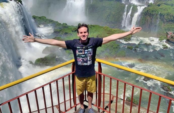 """Jornalista cego conta a emoção de """"ver"""" as Cataratas do Iguaçu"""