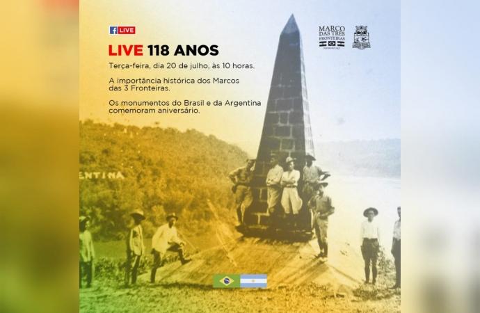 Marco brasileiro e argentino completam 118 anos nesta terça