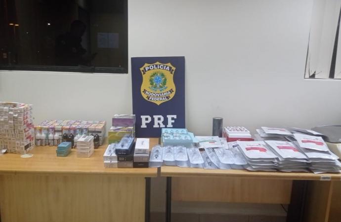 Medicamentos e matéria prima para aplicação de botox são apreendidos pela PRF em Santa Terezinha de Itaipu