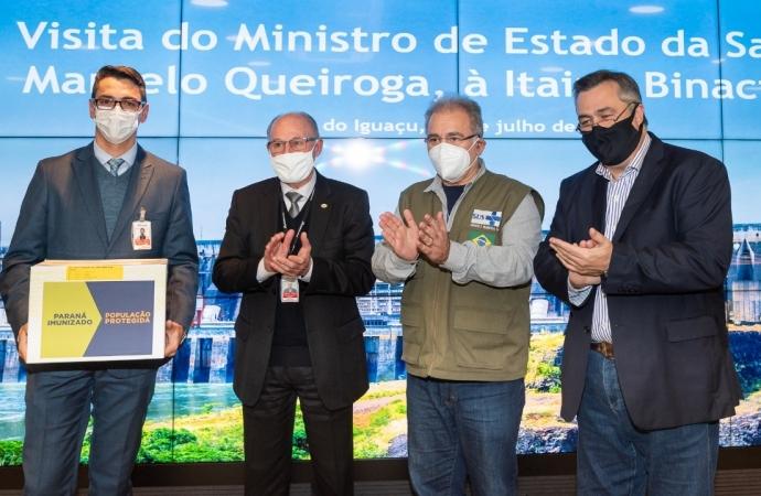 Ministro da Saúde agradece apoio da Itaipu no combate à pandemia da covid-19