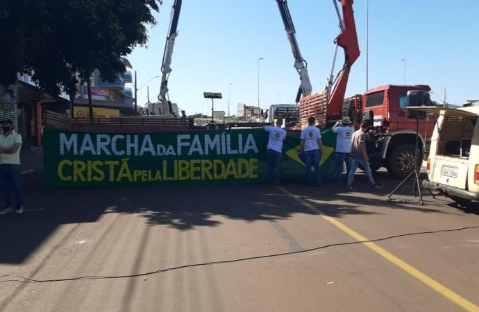 Mobilização pró-governo também aconteceu em Matelândia