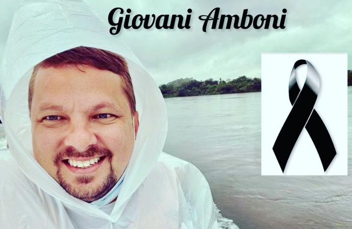Morre aos 37 anos Giovani Amboni, ex-vereador de São Miguel do Iguaçu