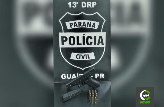 Mulher que atirou contra marido em Guaíra é ouvida pela Polícia Civil