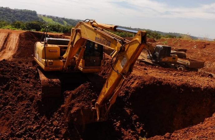 Obra de construção da Vala do Aterro Sanitário de Matelândia é finalizada