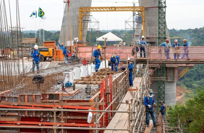 Obras da Ponte da Integração mantêm cronograma e alcançam 63% de execução