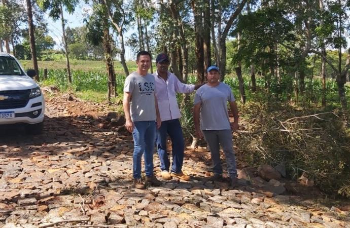 Obras de pavimentação poliédrica são concluídas em Santa Helena