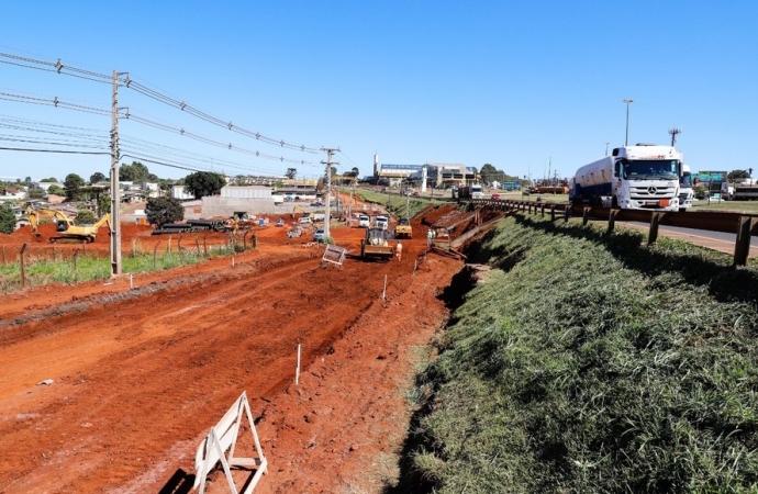 Obras no Trevo Cataratas avançam e se aproximam da segunda etapa
