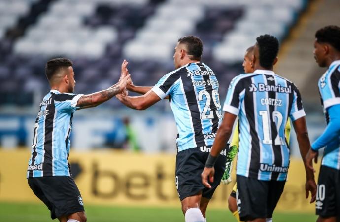 Ouça os gols: Grêmio estreia na Sul-Americana com vitória diante do La Equidad