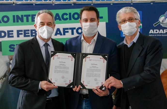 Paraná recebe reconhecimento internacional como área livre de febre aftosa sem vacinação