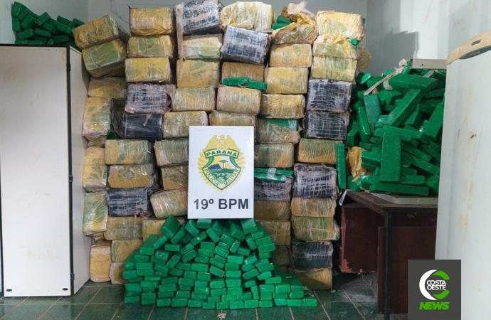 PM de Santa Helena apreende mais de 1,5 toneladas de maconha em Sub-Sede