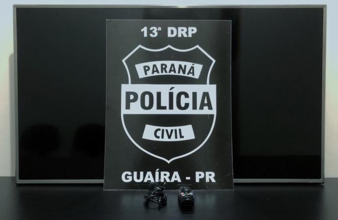 PC apreende adolescente e prende uma mulher envolvidos em roubos a veículos em Guaíra e região