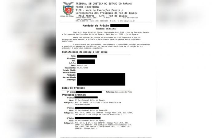 Polícia Civil cumpre mandado de prisão no centro de Santa Terezinha de Itaipu