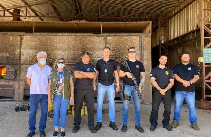 Polícia Civil de Santa Helena realiza a incineração de seis toneladas de drogas