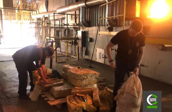 Polícia Civil de Santa Helena realiza incineração de 1,5 tonelada de droga em Marechal Rondon