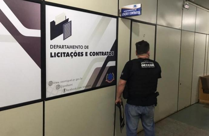Polícia Civil faz operação contra fraude em licitações e cumpre mandados em São Miguel do Iguaçu
