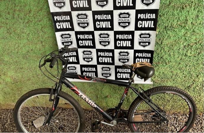 Polícia Civil indicia suspeito pela prática do crime de furto de bicicletas