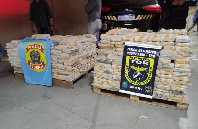 Polícia Federal de Guaíra realiza maior apreensão de cocaína da história da unidade