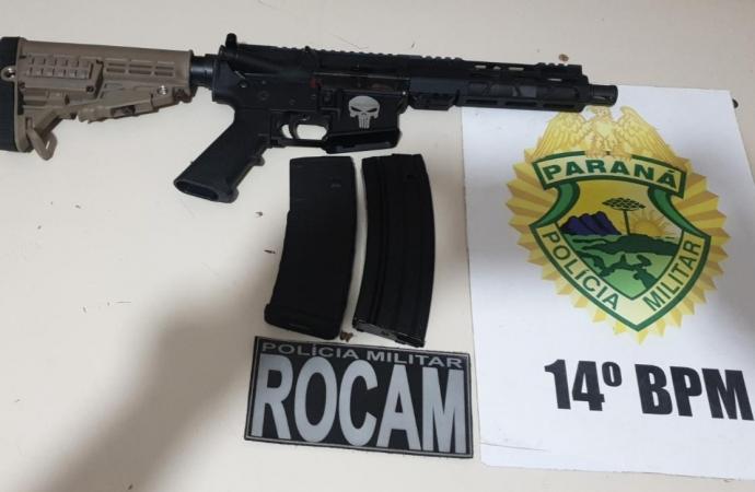 Polícia Militar apreende arma de guerra em Foz do Iguaçu