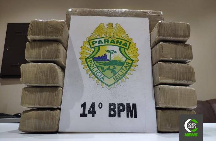 Polícia Militar apreende menor com mais de 8kg de maconha