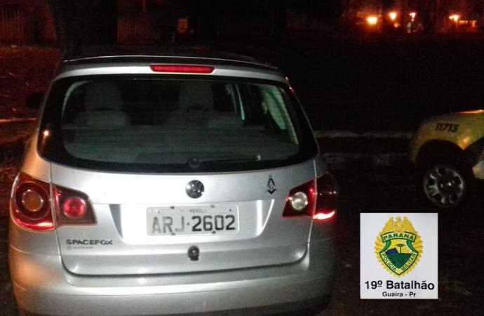 Polícia Militar de Guaíra recupera veículo furtado
