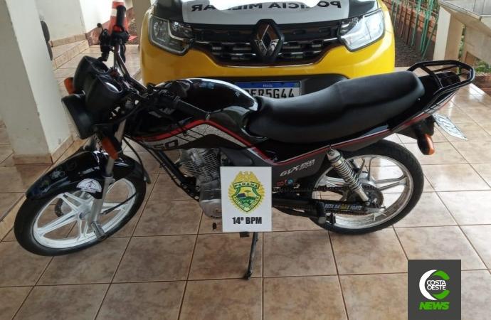 Polícia Militar de Itaipulândia apreende motocicleta com escape barulhento conduzida por adolescente