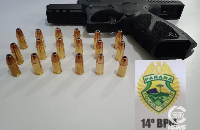 Polícia Militar detém indivíduo com pistola em São Miguel do Iguaçu