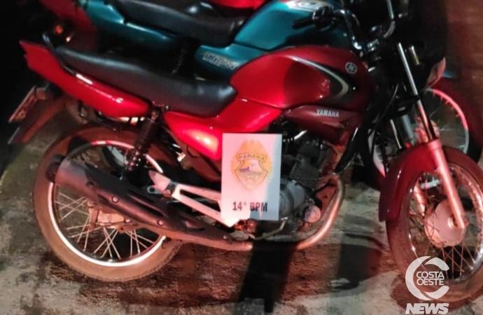 Polícia Militar recupera motocicleta furtada em Medianeira