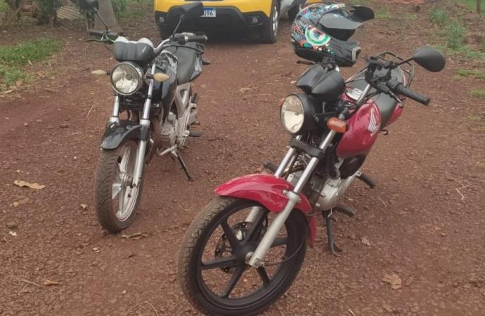 Polícia Militar recupera motocicletas e detém dois homens em Santa Helena