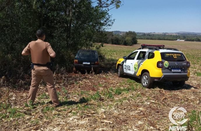 Polícia Militar recupera Uno furtado durante a madrugada em Santa Helena