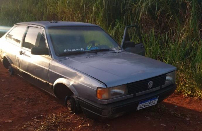 Polícia Militar recupera veículo preparado para desmanche em Medianeira