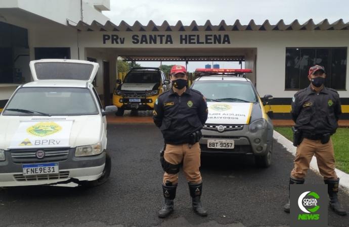Polícia Rodoviária de Santa Helena apreende adolescente, veículo e maconha na PR 488