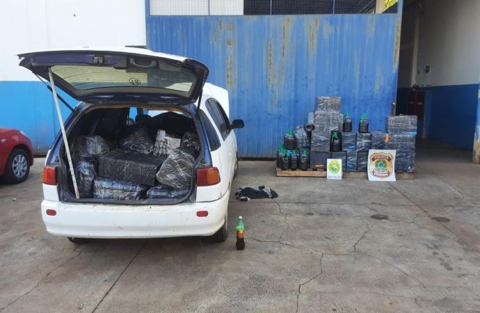 Policiais apreendem veículo com azeite e vinho em situação irregular em Foz do Iguaçu