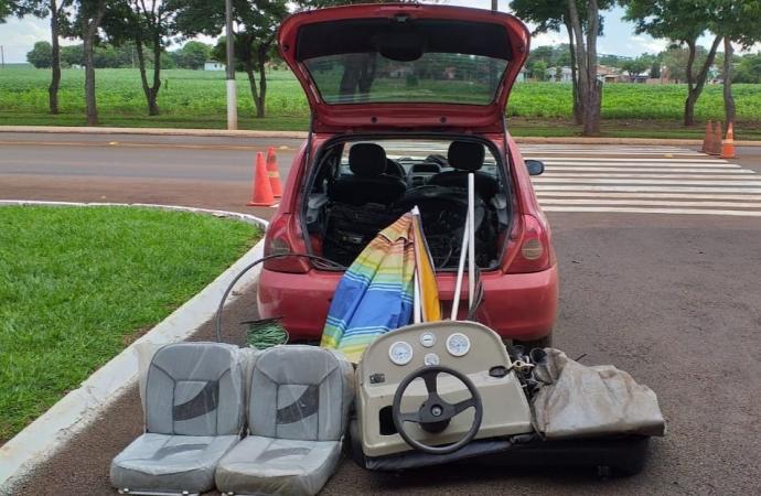 Policiais recuperam produtos furtados e prendem suspeito em Santa Helena
