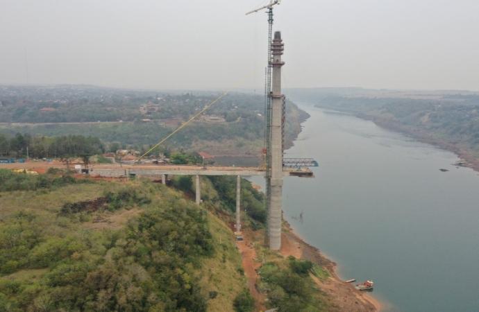Ponte da Integração Brasil-Paraguai deve ficar pronta em setembro de 2022