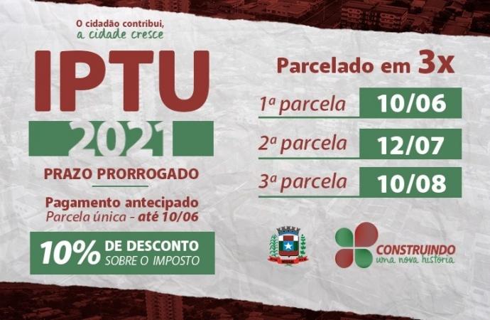 Prazo para pagamento do IPTU em cota única em Missal encerra hoje, dia 10 de junho