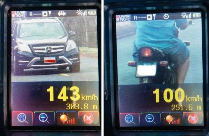 PRE flagra veículos acima da velocidade na PR-497 entre Missal e Itaipulândia