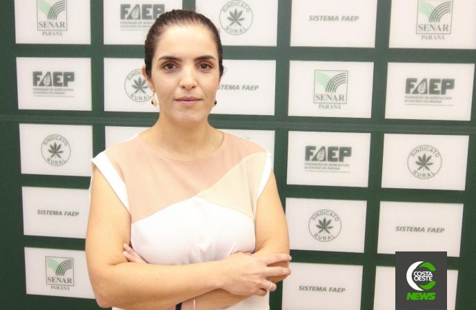 Ana Paula Kowalski do Departamento Técnico e Econômico da FAEP