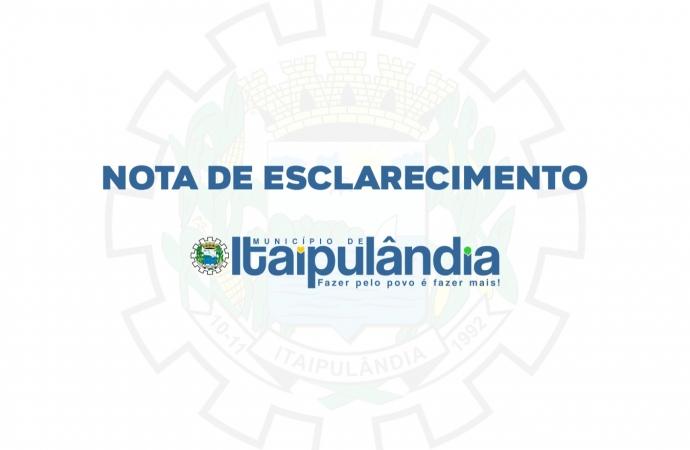 Prefeitura de Itaipulândia esclarece ação de fiscalização