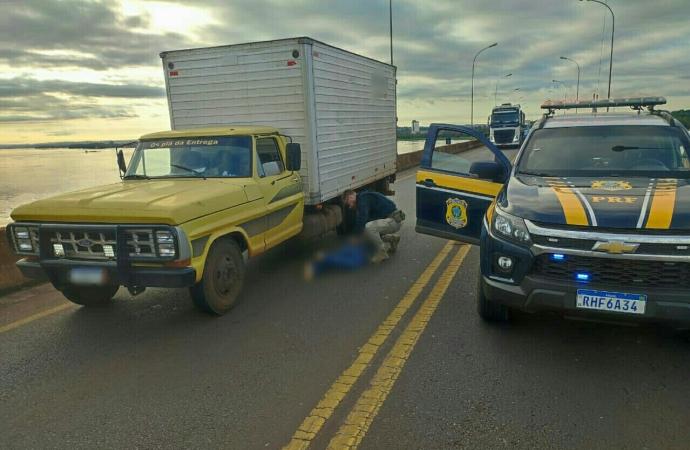PRF recupera camioneta logo após ser furtada