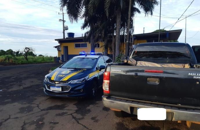 PRF recupera veículo roubado e clonado em Santa Terezinha de Itaipu
